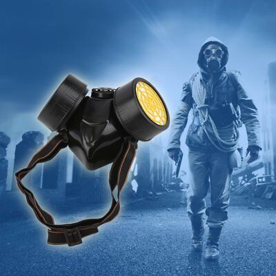 Emergency Survival Safety Respiratory Gas Mask With 2 Dual Protective Breathable