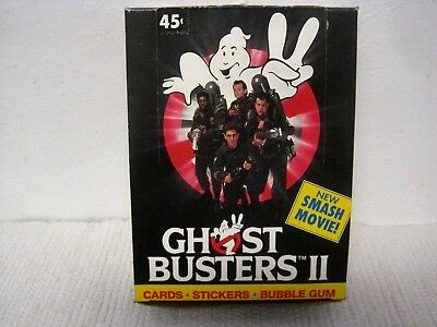 1989 TOPPS GHOSTBUSTERS II BUBBLE GUM CARTE COMPLETO 36 CONTARE Set