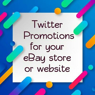 Twitter promotions of your eBay store or website 22,000 people traffic ads promo
