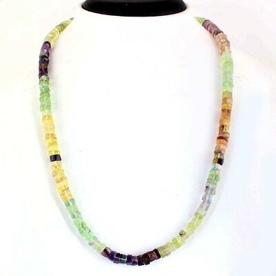 242.00 Cts Natural Untreated Multicolor Fluorite Round Shape Beads Necklace