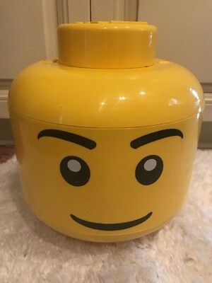 Large Lego Minifig Sort u0026 Store Head Storage Container Yellow Handle Two Shelves & LEGO LARGE STORAGE Container Head Boy - $29.99 | PicClick