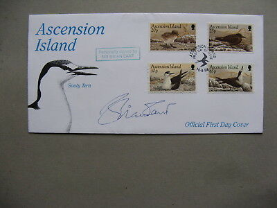 ASCENSION ISLAND, cover FDC 1994, birds, autograph Brian Cant (only 5 made)