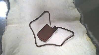 Hand Stitched Leather Flintlock Frizzen Stall or cover Made of leather