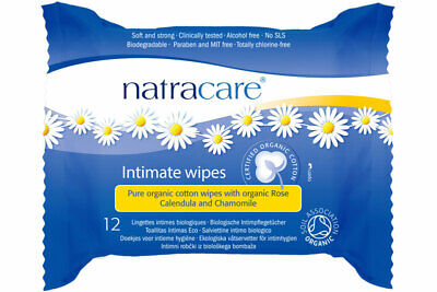 Organic Cotton Intimate Wipes x12 wipes (Natracare)