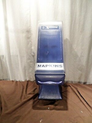 SCA Tork Xpressnap Napkin Dispenser with stand ABS Plastic Clear/Blue or purple
