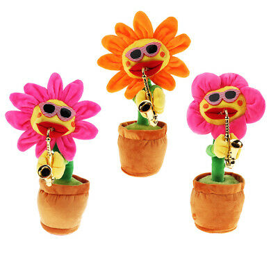 Musical Singing Dancing Electronic Moving Cute Sunflower Toy Kids Baby Gift
