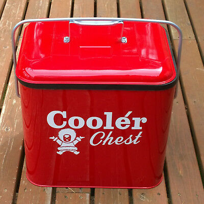 """Vintage """"Eskimo"""" Cooler Chest, restored to mint condition."""
