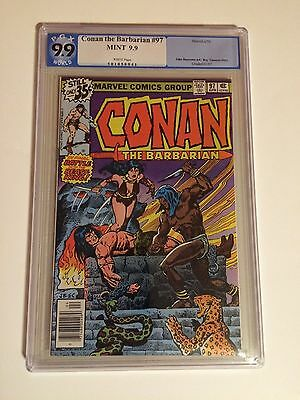 CONAN the BARBARIAN #97 PGX 9.9 (like cgc), TOP GRADED, BELIT, WICKED COVER