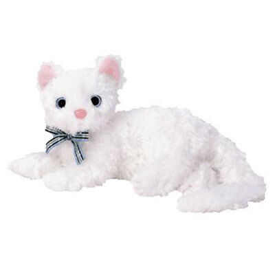 TY Beanie Baby - STARLETT the White Cat (6.5 inch) - MWMTs Stuffed Animal Toy
