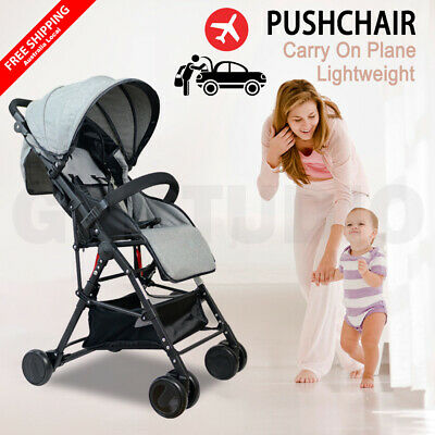 Compact Lightweight Baby Stroller Pram Easy Foldable Pushchair Travel On Plane