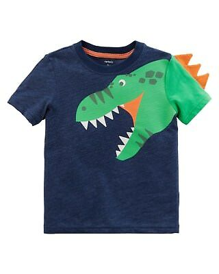 New Carter's Boys Dinosaur Spikes Graphic Tee Shirt Top NWT 3T 4T 5T 6 7 8 Kid