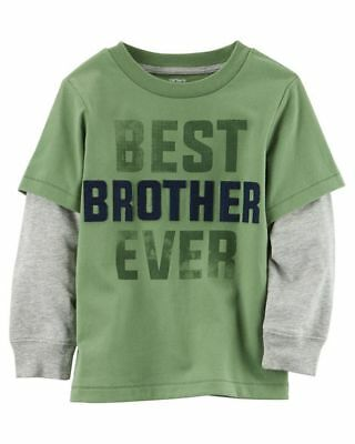 New Carter's BIG BROTHER Top NWT 2t 3t 4t 5t 4 5 6 7 8 Super Soft Graphic 2 Side