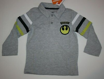 NEW Gymboree Boys Star Wars Polo Top NWT 18-24m 2 3 4 5 6 7 8 One with the Force