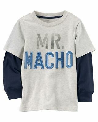 New Carter's MR Macho Top NWT 2t 3t 4t 5t 4 5 6 7 8 Super Soft Graphic 2 Sides
