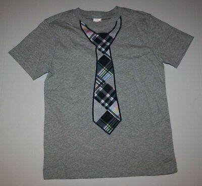 New Gymboree Outlet Short Sleeve Gray Necktie Top Shirt Tee NWT 2T 3T 5T Boys