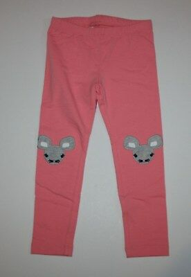 New Gymboree Coral Pink Mouse Knee Leggings Size 3T NWT Hello Yellow Line Girls