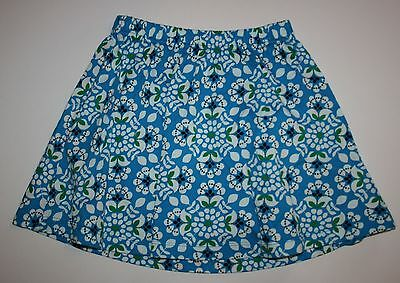 NEW Hanna Andersson Pull On Floral Skirt size 110 or 4 5 6 yr NWT Elastic Waist
