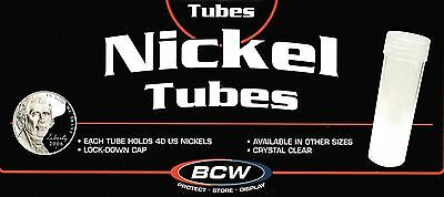 40 BCW Round Nickel Coin Tubes with Screw on Caps New Buffalo