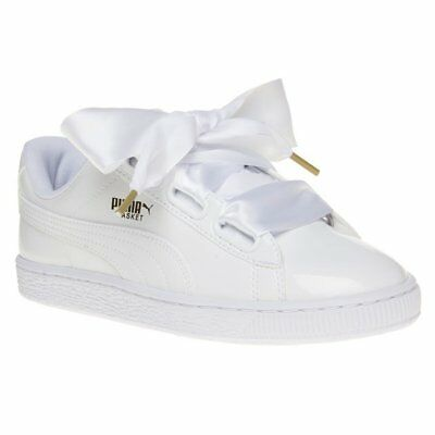 aa3c461233b NEW WOMENS PUMA Pink Basket Heart Vs Velvet Trainers Court Lace Up ...