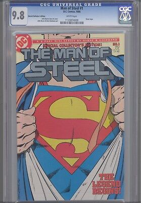 Man of Steel #1  CGC 9.8 1986:Silver Logo Edition: Superman Cover