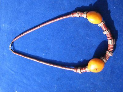 African Trade Beads Necklace.