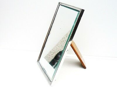 Silver Mirror, STERLING Large, Hallmarked 1929, Walker & Hall, 12 3/4 x 8 Inches