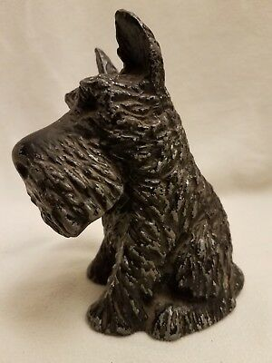 Vintage Cast Metal Scottie Terrier Bank-Figurine