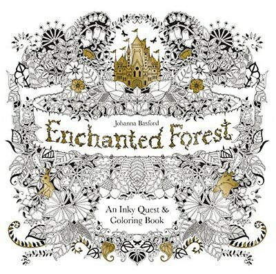 NEW - Enchanted Forest: An Inky Quest & Coloring Book