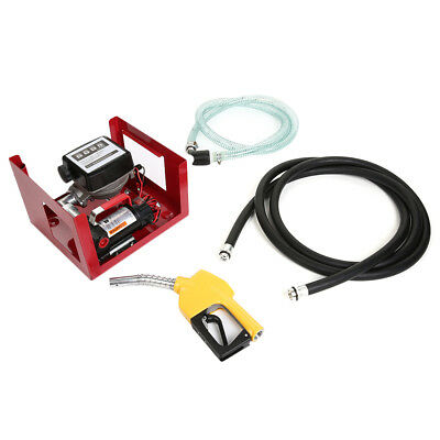 12 Volt Wall Mounted Diesel Adblue Transfer Fuel Pump Kit 12V With Fuel Meter
