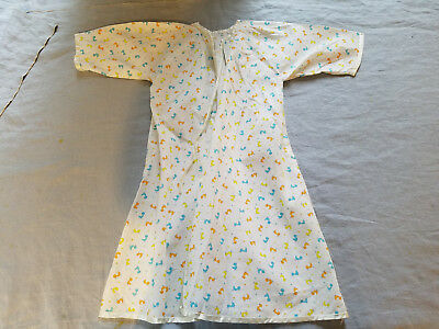 Vintage hand made baby nightgown pinafore cute duck fabric
