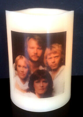 ABBA ELECTRONIC FLICKERING WAX CANDLE flameless BATTERY OPERATED