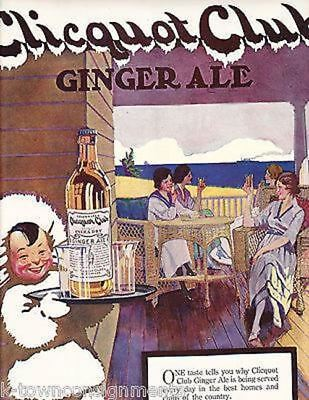 Clicquot Club Ginger Ale Eskimo Vintage Advertising Poster Print