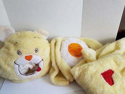Vintage Childrens Costume Funshine Bear Handmade Care Bear Size 4 or 5