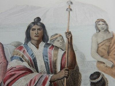 1859 Costumes,MID AMERICAN INDIANS ,  Engraving