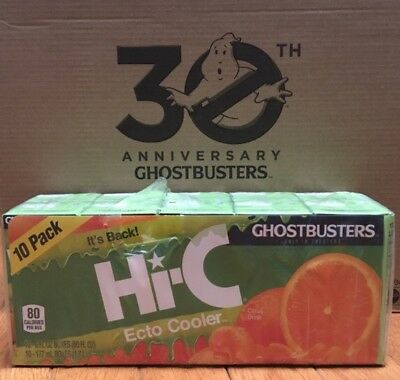 Hi-C Ecto Cooler  Limited Release 10 PACK Juice Boxes GHOSTBUSTERS .