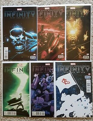 Infinity # 1 2 3 4 5 6 Complete Marvel 2013 Hickman Thanos Avengers Black Order