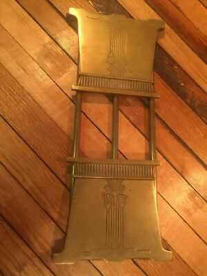 VINTAGE 1920s ART DECO BRADLEY & HUBBARD BRASS/BRONZE BOOK ENDS PLANT BOX HOLDER