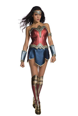 Batman v Superman Wonder Woman Diana Prince Adult Dress Cosplay Costume Medium