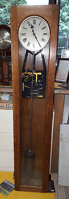 GENUINE SYNCHRONOME ELECTRIC MASTER WALL CLOCK No 3845 CIRCA 1947 OAK CASE