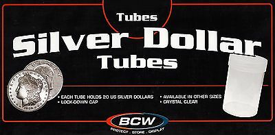 15 New Round Large Dollar Tubes Pre 73 Coin Screw Cap Ike Morgan Peace