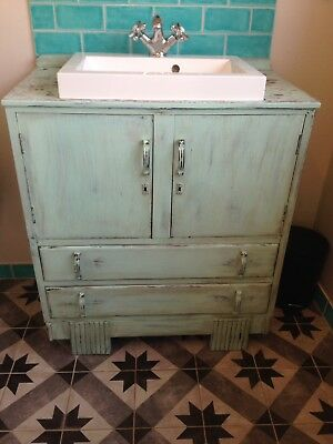 Shabby Chic Bathroom Vanity Unit And Basin 60 00 Picclick Uk