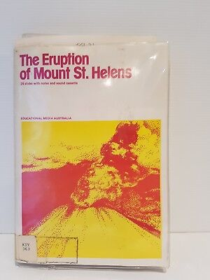 Vintage super slides the eruption of Mount St Helen's 26 slide notes projector
