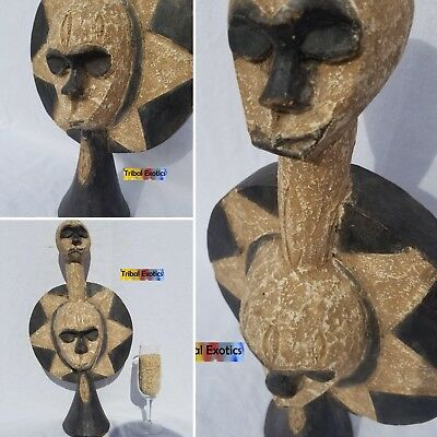 COMMANDING Eket Ibibio Headdress Mask Figure Sculpture Statue Fine African Art