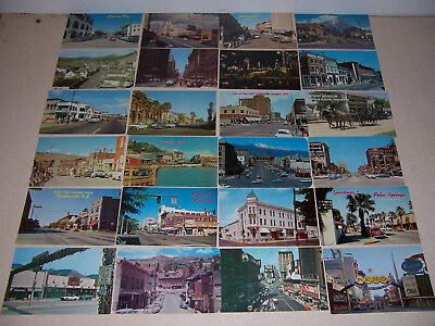 1950s-70s USA DOWNTOWN CITY & TOWN STREET SCENE VTG POSTCARD LOT of 24 DIFF