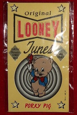 """New 1993 PORKY PIG Warner Brothers Looney Tunes Pin Sealed """"That's all Folks"""""""