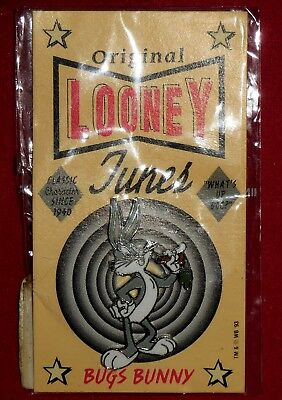 "New 1993 BUGS BUNNY Warner Brothers Looney Tunes Pin Sealed ""What's Up Doc"""