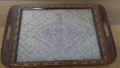 Large Brazilian butterfly tray, butterfly, vintage, antique