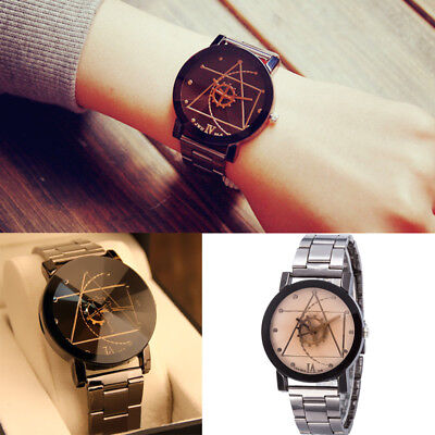 Stainless Steel Watches Wrist Watch Mens Fashion Quartz Analog Womens Compass H