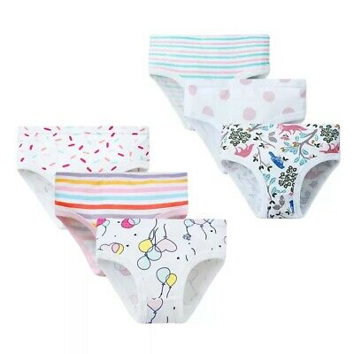 5-Pack Kids Little Girls' Toddler Boyshort Panty Underwear Cotton Briefs Panties