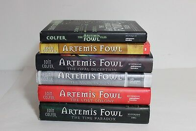 lot of 6 Artemis Fowl Books Series by Eoin Colfer 5 Hardcover DJ 1 SC Nice